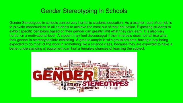 gender role stereotyping A gender role, also known as a sex role, is a social role encompassing a range of behaviors and attitudes that are generally considered acceptable, appropriate, or desirable for people based on their actual or perceived sex or sexuality gender roles are usually centered on conceptions of femininity and masculinity, although there are exceptions and variations.