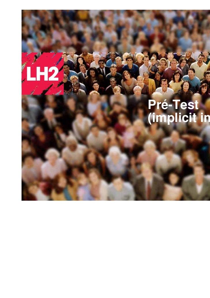 Pré-Test(implicit impact)