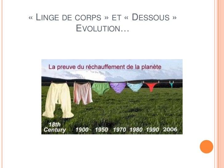 « LINGE DE CORPS » ET « DESSOUS »           EVOLUTION…