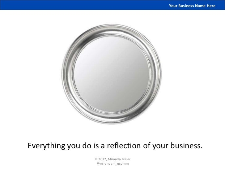 Your Business Name HereEverything you do is a reflection of your business.                   © 2012, Miranda Miller       ...