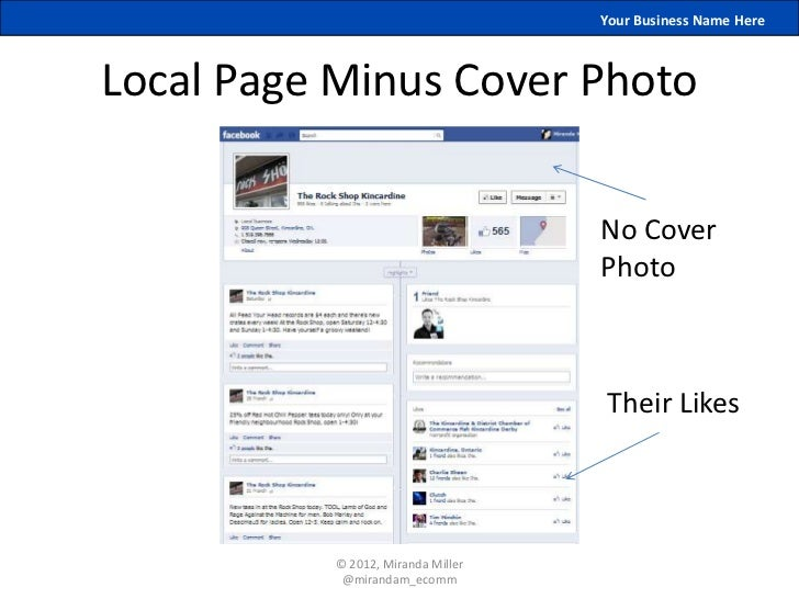 Your Business Name HereLocal Page Minus Cover Photo                                    No Cover                           ...