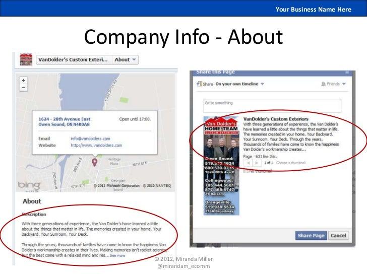 Your Business Name HereCompany Info - About       © 2012, Miranda Miller        @mirandam_ecomm