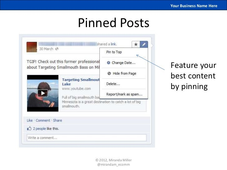 Your Business Name HerePinned Posts                           Feature your                           best content         ...
