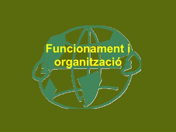 Funcionament i organització