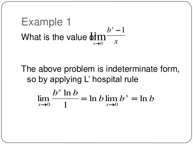 L' hospital rule to solve calculus problems