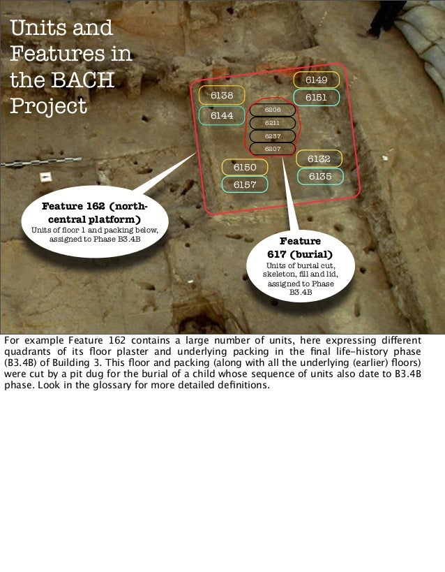 Units and Features in the BACH Project  6149 6138  6151 6206  6144  6211 6237 6207  6150 6157  6132 6135  Feature 162 (nor...