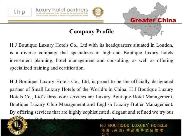 Luxury hotel partners greater china for Luxury hotel company