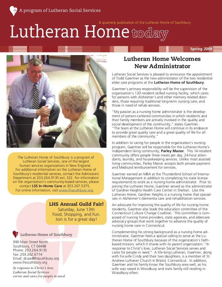 A program of Lutheran Social Services                                                           A quarterly publication of...