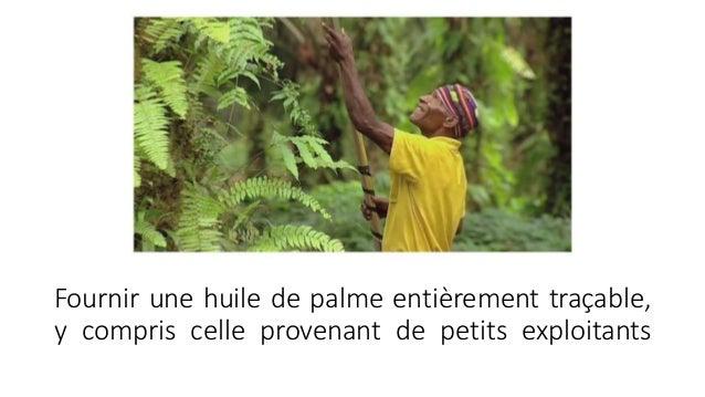 Fournir une huile de palme entièrement traçable, y compris celle provenant de petits exploitants