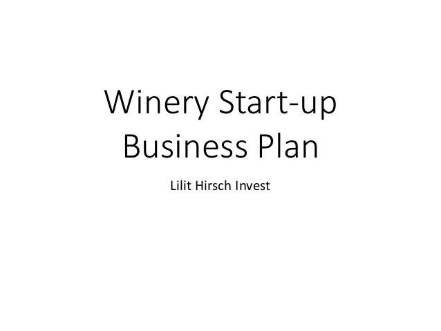 Lh winery start up business plan winery start up business plan lilit hirsch invest wajeb Choice Image