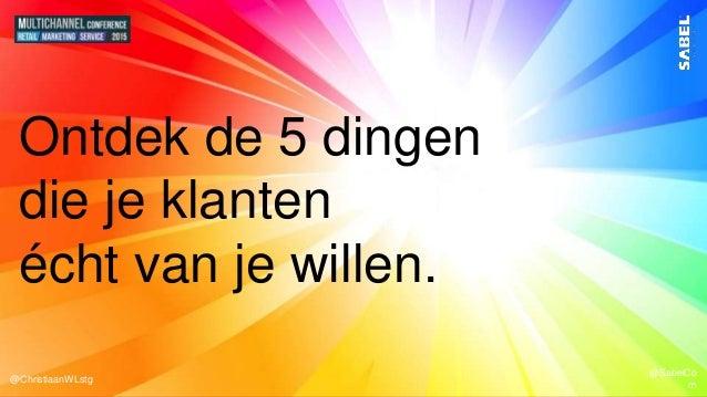 @ChristiaanWLstg @SabelCo m @ChristiaanWLstg @SabelCo m @ChristiaanWLstg @SabelCo m Ontdek de 5 dingen die je klanten écht...