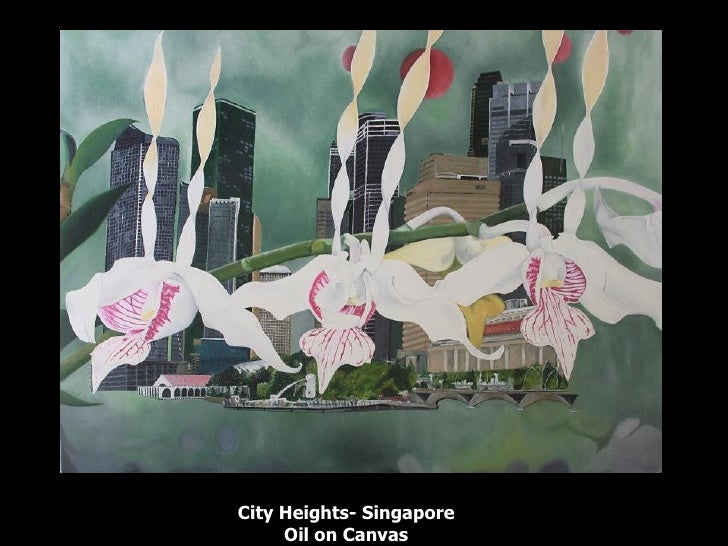 City Heights- Singapore Oil on Canvas