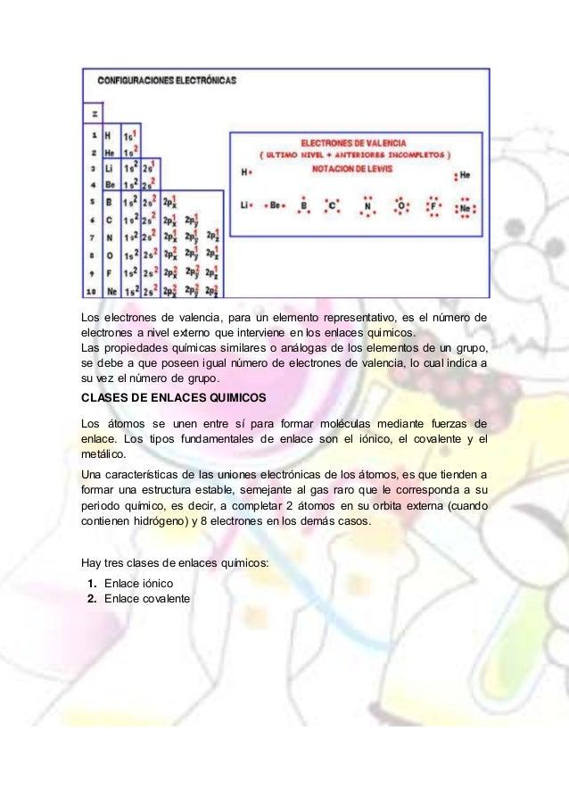 11 los electrones de valencia
