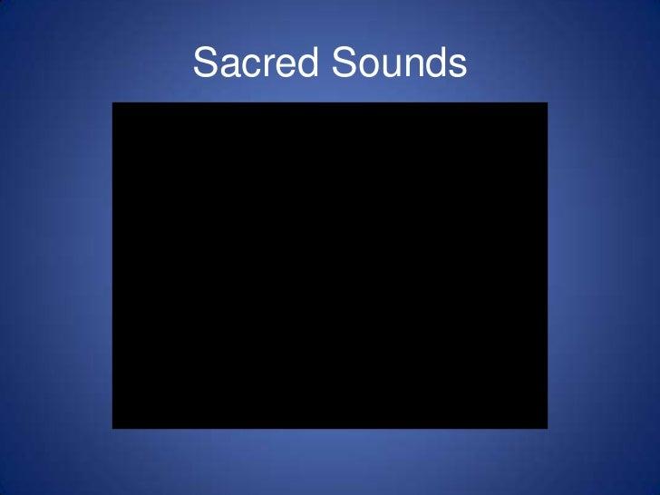 Sacred Sounds<br />