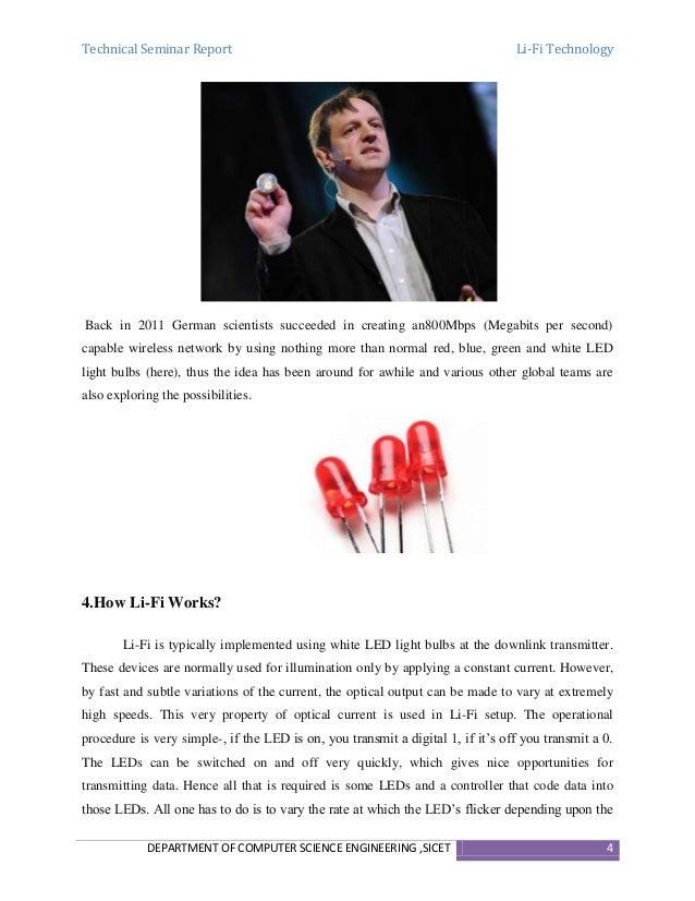Seminar Report on Li-Fi Technology