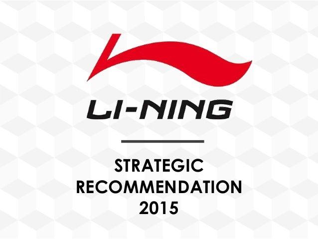 STRATEGIC RECOMMENDATION 2015