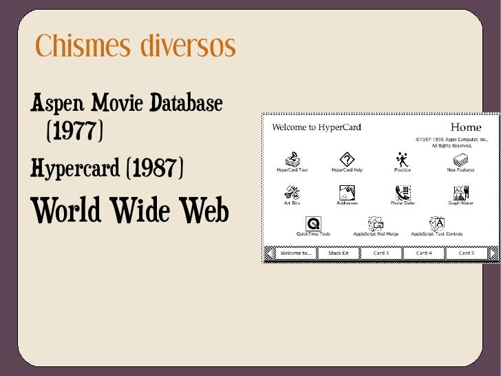 Memex  de Vannevar Bush </li><ul><li>Caminos  personales entre biblioteca y anotaciones </li></ul><li>Hipertexto  introduc...