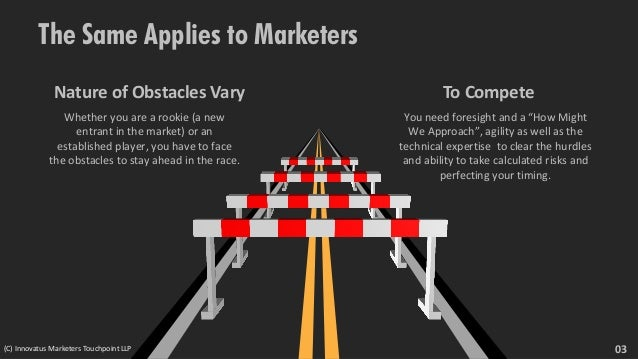"""The Same Applies to Marketers To Compete You need foresight and a """"How Might We Approach"""", agility as well as the technica..."""