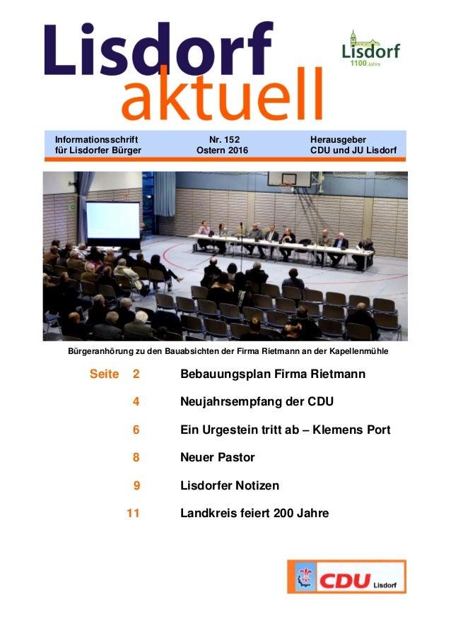 Bürgeranhörung zu den Bauabsichten der Firma Rietmann an der Kapellenmühle Seite 2 Bebauungsplan Firma Rietmann 4 Neujahrs...