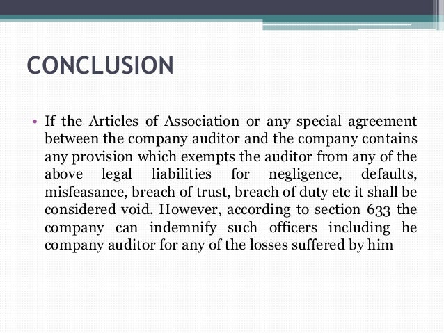 Breach of company articles of association