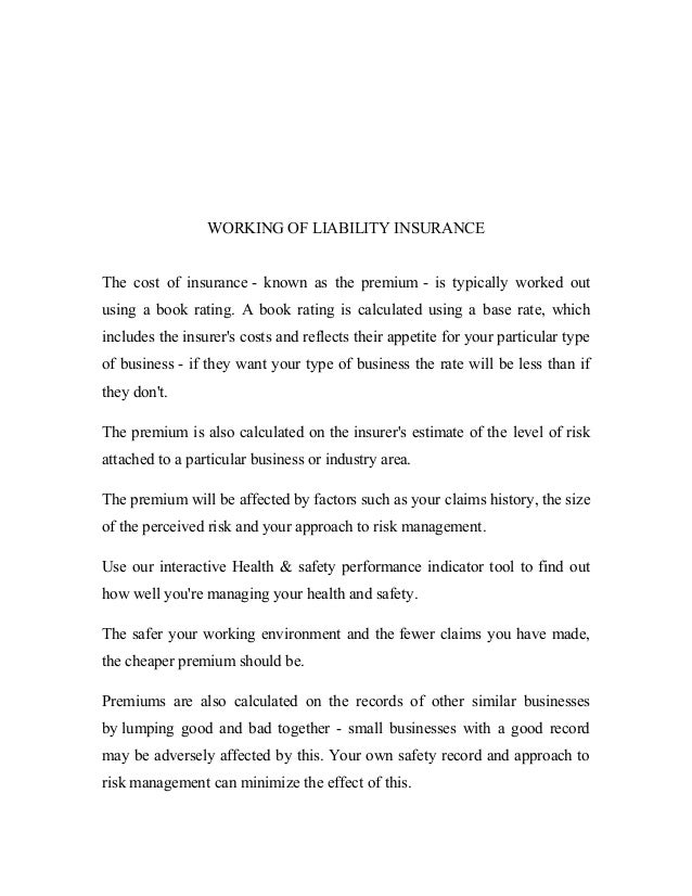 Liability Insurance An Indian Perspective