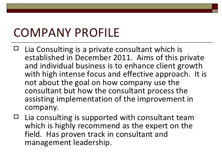 Lia consulting Slide 2