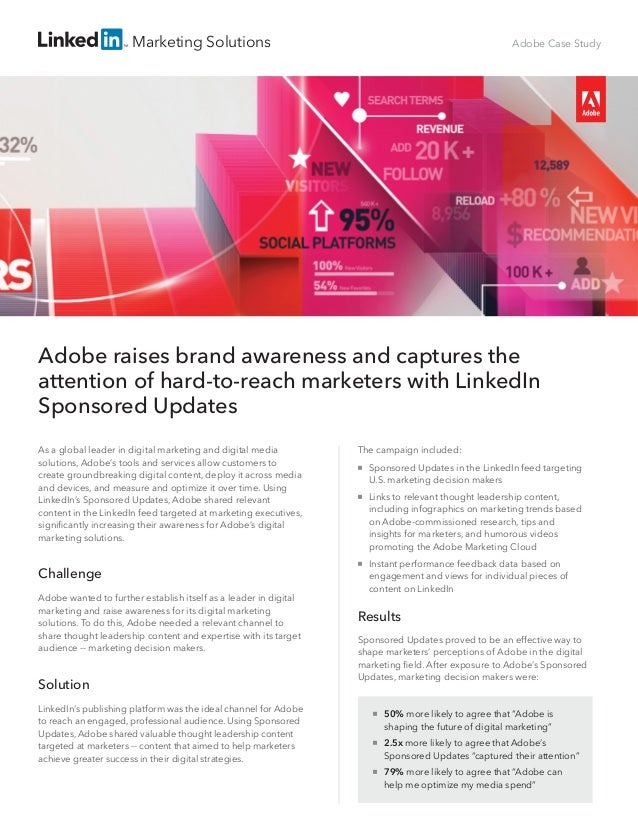 Marketing Solutions The campaign included:  Sponsored Updates in the LinkedIn feed targeting U.S. marketing decision make...