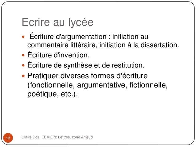 Zone litteraire dissertation