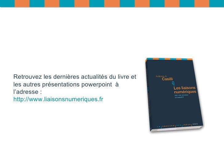 Retrouvez les dernières actualités du livre et les autres présentations powerpoint  à l'adresse :  http://www.liaisonsnume...