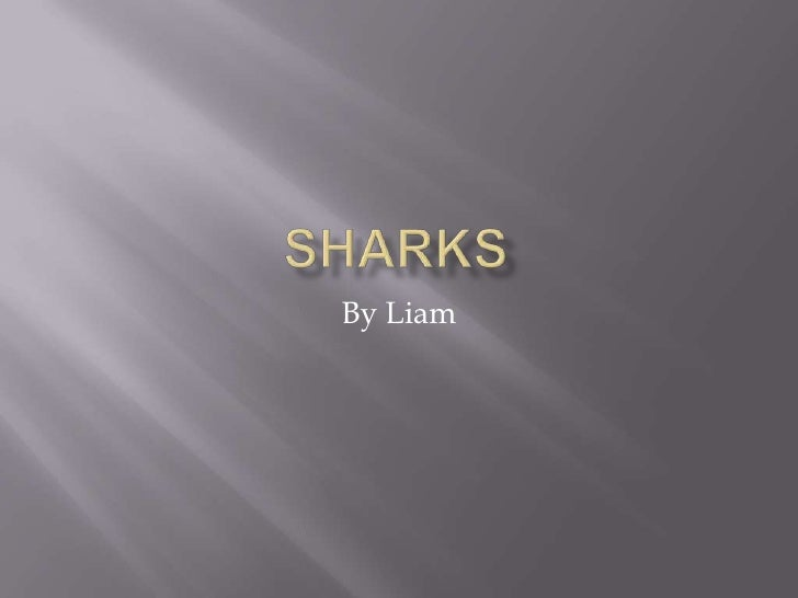 Sharks<br />By Liam<br />