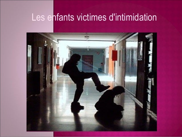 Les enfants victimes dintimidation