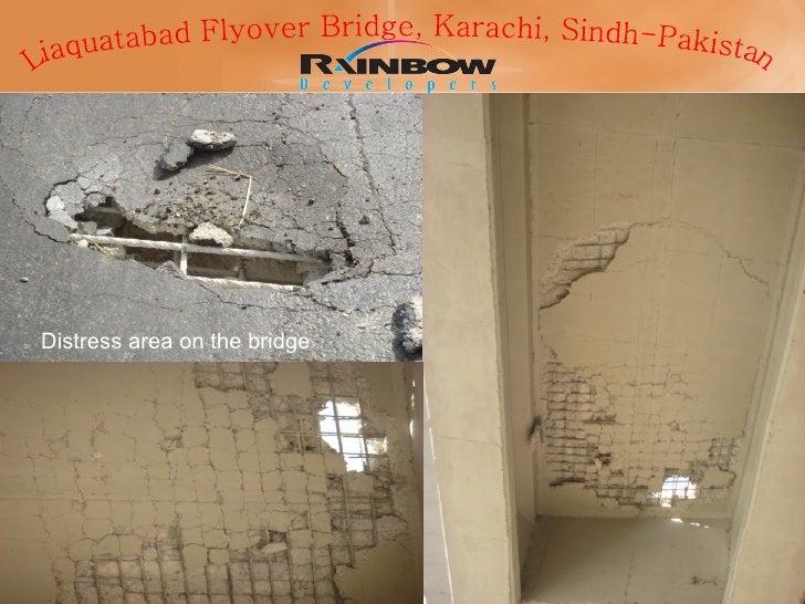 Distress area on the bridge  Liaquatabad Flyover Bridge, Karachi, Sindh-Pakistan
