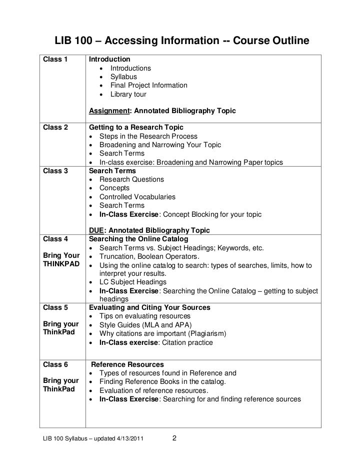 Curriculum outline template course title instructor for Create a syllabus template