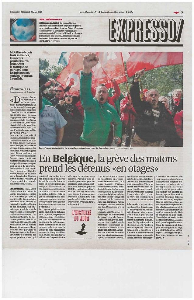 Crise dans les prisons : itw dans Libération