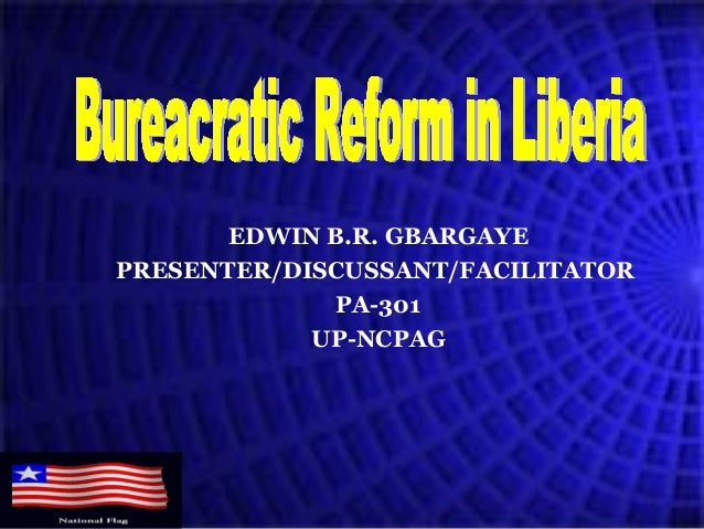 EDWIN B.R. GBARGAYE PRESENTER/DISCUSSANT/FACILITATOR PA-301 UP-NCPAG