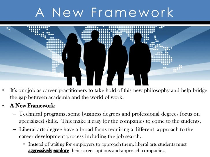 A New Framework• It's our job as career practitioners to take hold of this new philosophy and help bridge  the gap between...