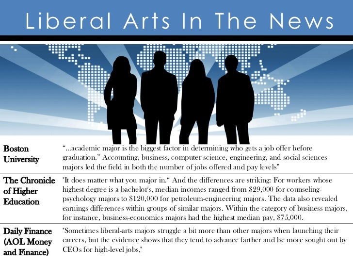 """Liberal Arts In The NewsBoston           """"…academic major is the biggest factor in determining who gets a job offer before..."""