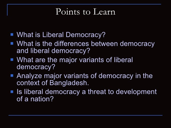 Liberal Democracy By Muhammad Muinul Islam