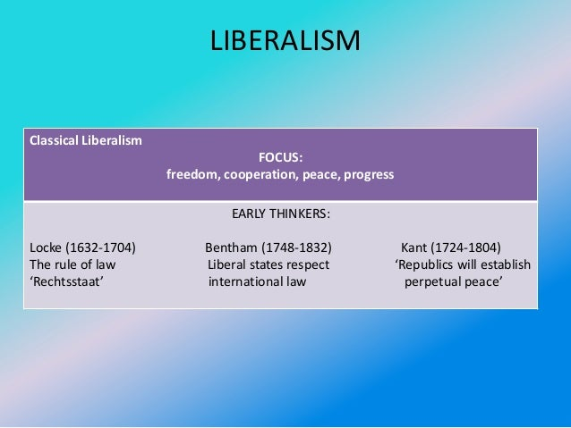 classical liberalism in the states essay