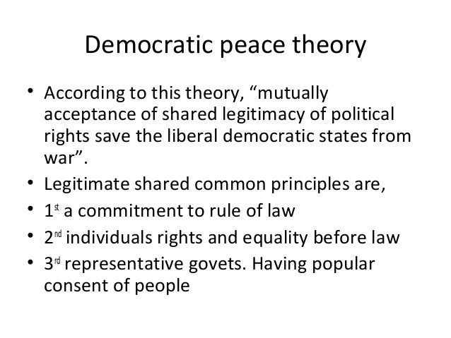 Liberal democratic peace thesis