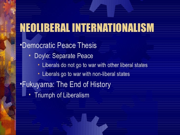 "kant liberal democratic peace thesis The democratic peace theory 1 for the major initial statements of the thesis, see dean babst, ""a force for peace how liberal-ism produces democratic peace."