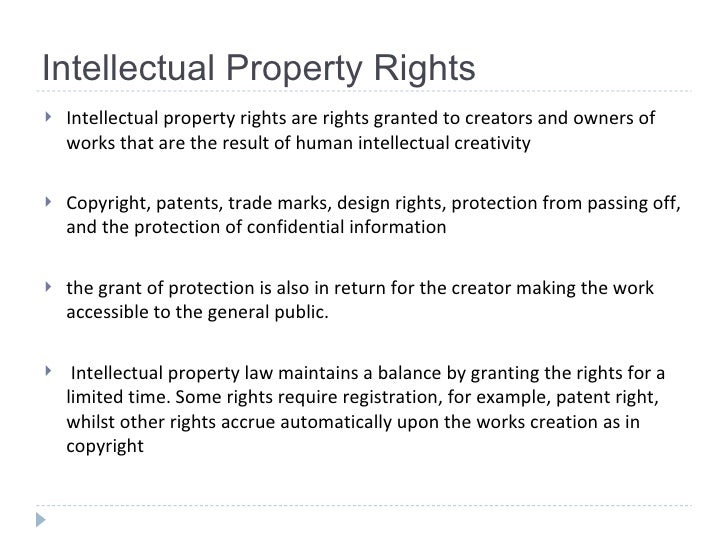 What Rights Are Granted To The Creators Of Intellectual Property