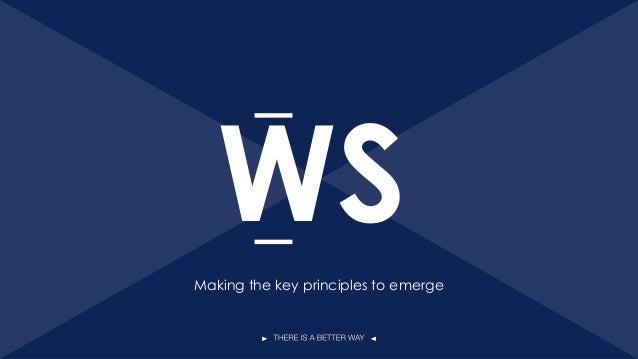 WS 21 Making the key principles to emerge