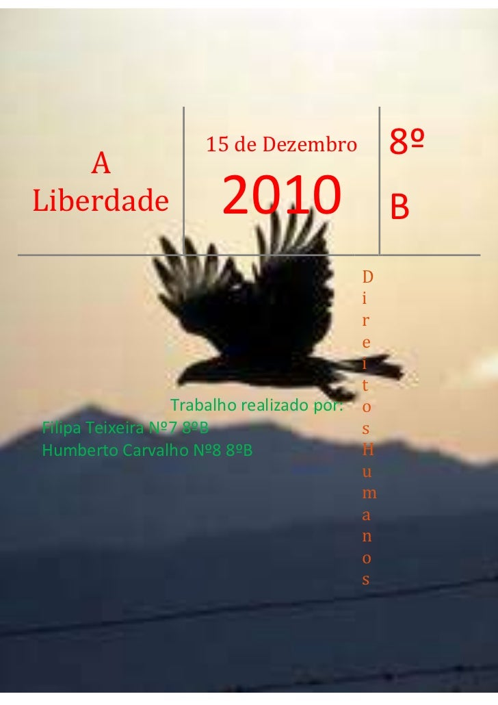 A Liberdade15 de Dezembro20108ºBTrabalho realizado por: Filipa Teixeira Nº7 8ºBHumberto Carvalho Nº8 8ºBDireitos Humanos<b...