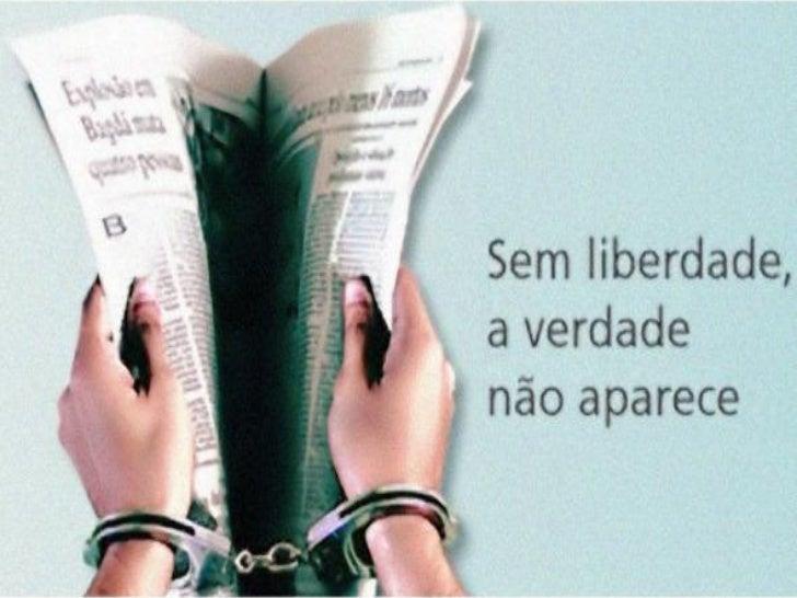 Liberdade de expressão             • Liberdade de expressão               é o direito de manifestar               opiniões...