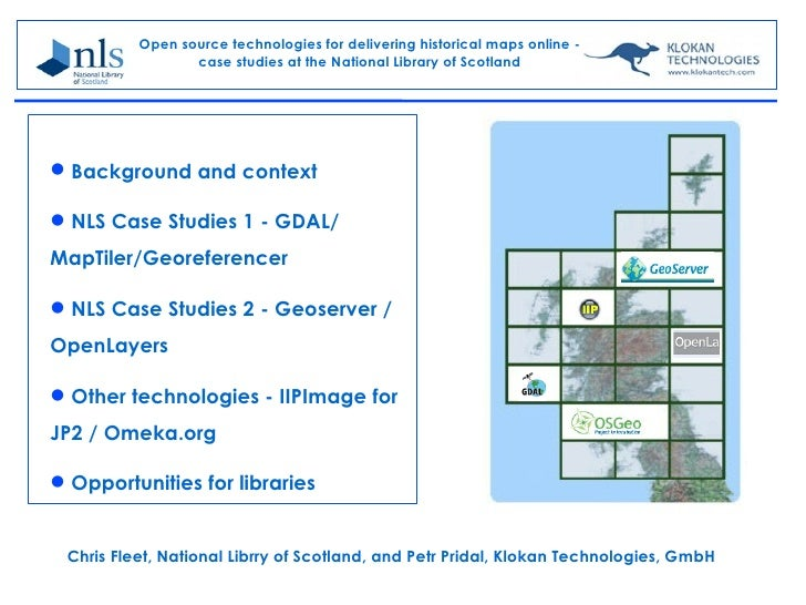 Open source technologies for delivering historical maps online -                 case studies at the National Library of S...