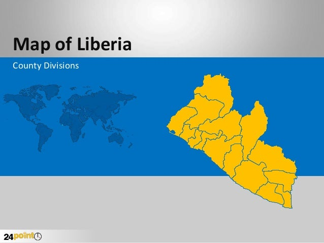 Map of Liberia County Divisions