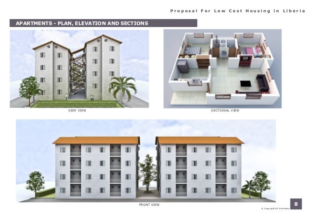 Porposal for low cost housing in liberia for Tavoli design low cost