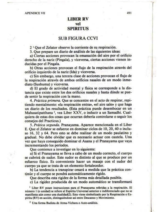 Liber RV Vel Spiritus - Español