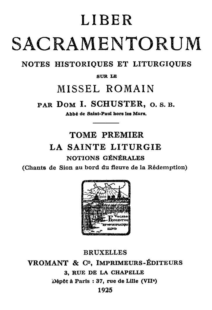 LIBERSACRAMENTORUMNOTES     HISTORIQUES                       ET        LITURGIQUES                                 SUR LE...
